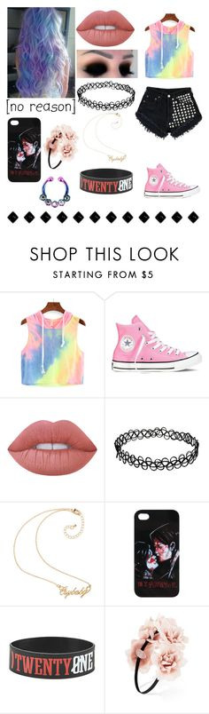 """Contest"" by emo-oreo-cookie ❤ liked on Polyvore featuring Levi's, Converse, Lime Crime and Forever 21"