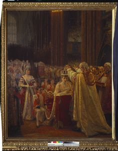 The Coronation of King Edward VII; the Crowning of Queen Alexandra   Royal Collection Trust