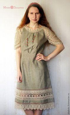 Картинки по запросу платье в русском стиле крючок и ткань
