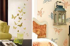 Mariposas para decorar las paredes de la sala Home Decor, Decor, Home Decor Decals, Home