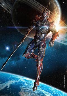 21 super ideas for fantasy art knight anime Robot Concept Art, Armor Concept, Fantasy Armor, Dark Fantasy Art, Fantasy Character Design, Character Art, Space Knight, Arte Robot, Futuristic Armour