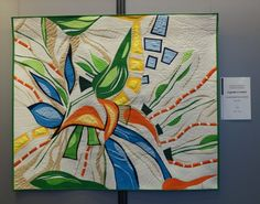 """Sheila Frampton Cooper - Quilts - My Blog """"A Garden in Motion"""" Pieced and free motion quilted."""