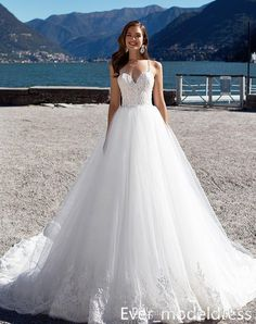 Discount 2017 Elegant Milla Nova A Line White Wedding Dresses Backless Court Train Formal Bridal Gowns With Appliques Robe De Mariage Custom Made Bridal Gowns Online Bridal Party Dresses From Ever_modeldress, $142.92| Dhgate.Com