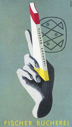 Zimmermann 1956 Fischer Bücherei Plakat |