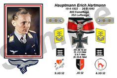 reinhardhimmler:  Major Erich (Bubi) Hartmann Luftwaffe, Erich Hartmann, Calm After The Storm, Fighter Pilot, World War Two, Ww2, Germany, History, Futuristic