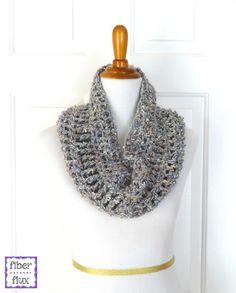 Platinum Cowl, free crochet pattern from Fiber Flux!
