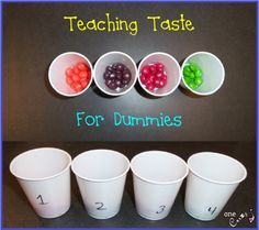 Great when teaching the five senses! Cheap and easy activity for teaching taste!