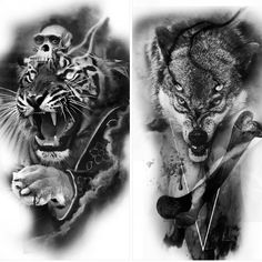 has some designs up for grabs, email him directly Wolf Tattoo Forearm, Wolf Tattoos, Animal Tattoos, Body Art Tattoos, Sleeve Tattoos, Tiger Tattoo, Lion Tattoo, Toros Tattoo, Wolf Tattoo Meaning