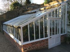 Lovely old glasshouse at Fenton House, in the kitchen garden