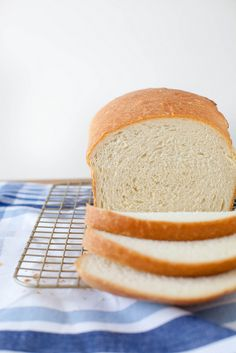 "The Best White Bread | ""Tall, puffy, soft but not too soft, and a tender golden crust – in short, exactly what I'm looking for in a loaf of homemade bread.  We generally eat white bread only on rare occasions, but I am so incredibly glad to have this recipe in my arsenal now for when those times arise."""