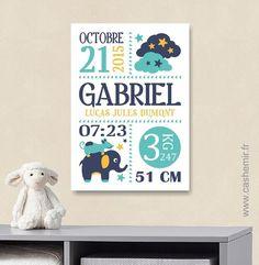 Cadeau de naissance bébé, stats de naissance, décoration chambre enfant garçon fille - Fichier Imprimable - n°78 : Décoration pour enfants par cashemir