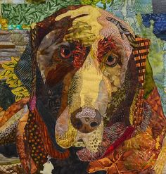 close up, Ozzie by Alison C. at Along Came Quilting