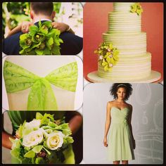 Light. Green inspiration board for one of Geminights Brides ❤