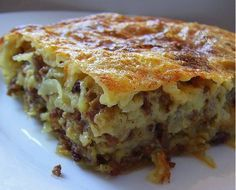 Ne mogu vam opisati koliko me oduševila ova jednostavna pita Albanian Recipes, Bosnian Recipes, Bosnian Food, Albanian Food, Serbian Food, Croation Recipes, Great Recipes, Favorite Recipes, Macedonian Food