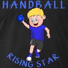 """Der süße Junge liebt das Handball spielen. Er ist seiner Handballmannschaft der """"rising star"""". Ein lustiges Comic Cartoon T-Shirt Geschenk für kleine Handballer. Comics Und Cartoons, Sport, Boys, Fictional Characters, Handball, Funny Cartoons, Cute Guys, Playing Games, Cool Sayings"""