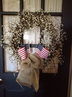 Primitive Patriotic wreath