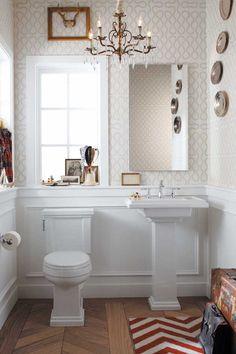 Tresham Collection toilet and pedestal sink by Kohler