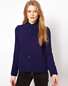 By Zoe Blouse with Pleated Shoulder Detail