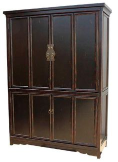 Asian Inspired Plasma Cabinet