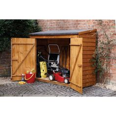 Wooden Tool Shed Garden Storage Cabinet Bike Patio Tools Garden Wooden Container