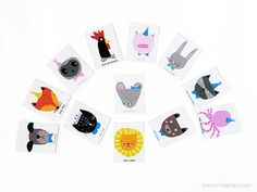 Animal Charades Game Free Printable Template