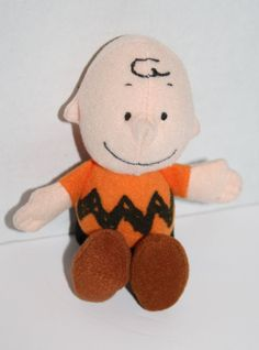"Wendys Kids Meal plush Charlie Brown stuffed doll Stocking Stuffer SMALL 5"" toy #Peanuts #Snoopy #CharlieBrown"