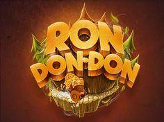 Ron don-don game logo design, varejo. Bg Design, Game Logo Design, Logo Inspiration, Creative Inspiration, Game Props, Event Logo, Themes Photo, App Logo, Game Icon