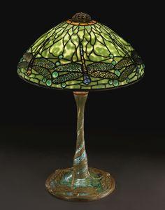 "** Tiffany Studios  ""DRAGONFLY"" TABLE LAMP"
