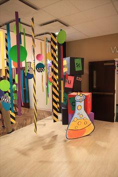 Hallway decoration ideas for #TimeLab #VBS2018