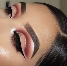 Makeup Eye Looks, Beautiful Eye Makeup, Cute Makeup, Glam Makeup, Pretty Makeup, Eyeshadow Makeup, Makeup Inspo, Drugstore Makeup, Makeup Glowy