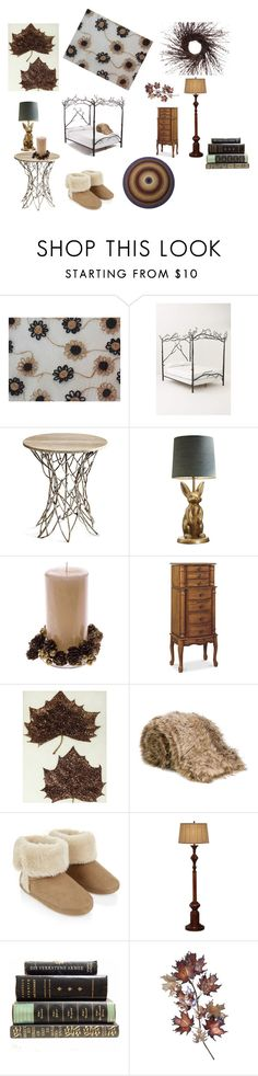 """Woodland Dreams"" by vsabrew on Polyvore featuring interior, interiors, interior design, home, home decor, interior decorating, Anthropologie, Cyan Design, PBteen and Liska"