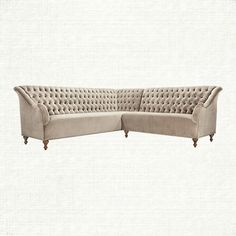 graceful tufting, an elongated back, gently flared arms and nailhead details combine to create this stunning collection. fiona's fabric, a microfiber
