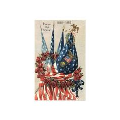 PATRIOTIC MEMORIAL DAY POSTCARD BEAUTIFUL AMERICAN FLAGS | eBay ❤ liked on Polyvore featuring home, home decor, post card and american flag home decor