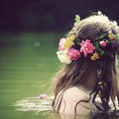 flower crown Art Print by Molly Peach Fantasy Magic, Crown Art, Head Crown, Water Nymphs, Hippie Gypsy, Gypsy Hair, Hippie Hair, Gypsy Soul, Flowers In Hair