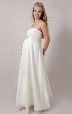 Strapless Mid Back Winter Wedding Dress with Sash