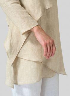MISSY Clothing - Linen Layering V-neck Tunic