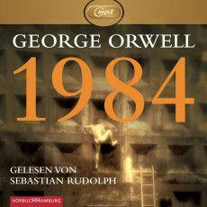 1984 (von George Orwell) › Bücher und so. George Orwell, German, Company Logo, Neon Signs, Logos, Cover, Author, Past, Reading