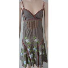 Desigual MARION dámské šaty olivově zelené 34