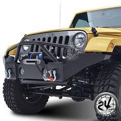 07-16 Jeep Wrangler JK Full Width Front Bumper W/OE Fog Light Holes&Winch Plate