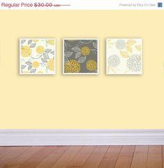 ON SALE Dahlia Wall Art Set of three 6 inch by tiffanywrobel7, $25.50