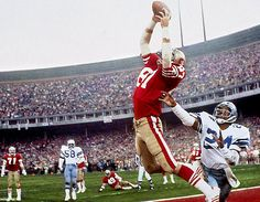"""Dwight Clark makes 'The Catch"""" as 49ers defeat Cowboys in 1982 NFC Championship game"""