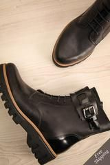 Campsey - Black leather Ateliers ankle boots