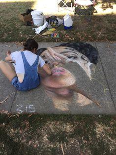 art, drawing, and grunge image Instalation Art, Art Tumblr, Sidewalk Chalk Art, Drawn Art, Artist Aesthetic, Aesthetic Colors, Arte Disney, Art Hoe, Dope Art