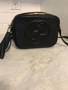 c943ed1b9eca Gucci GG Marmont Black Crossbody Bag | Gucci in 2019 | Black cross ...