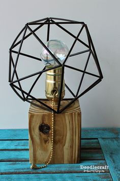 How to make a lamp with straws