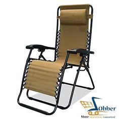 Zero Gravity Chairs Outdoor Recliner Sports Infinity Beige Beach Lawn Cathedra #CaravanCanopy