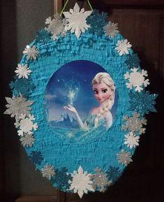 Elsa Birthday Party, Birthday Pinata, 5th Birthday, Frozen Pinata, Frozen Party, Elsa Frozen, Diy And Crafts, Crafts For Kids, Snow Globes