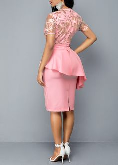 Dresses For Women Formal Dresses With Sleeves, Elegant Dresses, Pretty Dresses, Beautiful Dresses, Latest African Fashion Dresses, Women's Fashion Dresses, Dress Outfits, Lace Dress Styles, Classy Dress