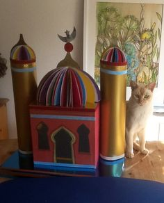 Finished Mosque approved of by cat