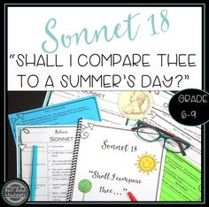 This post will help you teach the sonnet. Challenge your students to practice literary analysis and creative writing skills with this classic poem. Poems For Middle School, Middle School Classroom, Shakespeare Sonnets, Classic Poems, Teacher Worksheets, Middle Schoolers, Writing Poetry, Writing Skills, Teaching Reading